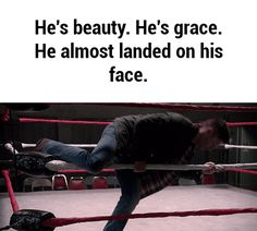 He's beauty. He's grace. He almost landed on his face. He's Dean Winchester Teen Wolf, Decimo Doctor, Supernatural Destiel, Supernatural Bloopers, Fandoms, Winchester Brothers, Dean Winchester Funny, Jared Padalecki, Jeffrey Dean Morgan