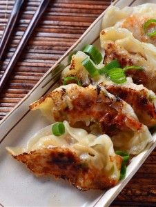 Spicy Sesame Chicken Potstickers from Lifesambrosia