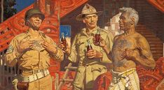28  19 Have a Coke - Kia Ora was painted between 1943 and 1945 for the Coca-Cola Company of New Zealand