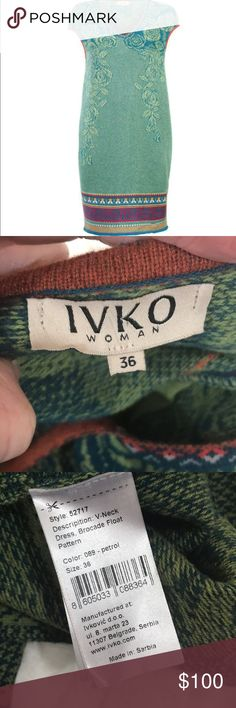 IVKO woman wool dress This dress is soft & stunning. Light to medium weight. No rips or stains. Chest across 18 inches. (Size 36 translates to M). Shoulder down 37 inches. Bundling is fun; check out my other items & save! Home is smoke free/ cat friendly. Plz, no price talk in comments. No trades or holds. IVKO woman Dresses