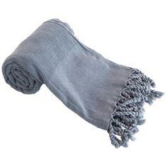 Handtücher - Stein Waschen Hamamtuch, Strandtuch, Grau - ein Designerstück von BlackLooms bei DaWanda