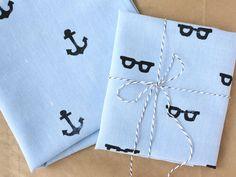 Hand-stamped handkerchief #DIY