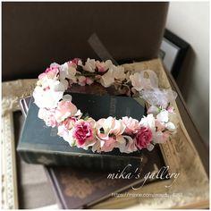 ピンク×ピンクの花冠 【aya***様オーダー作品】海外ウェディングOK