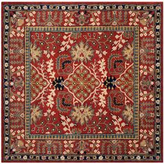 Antiquity Red/Multi 6 ft. x 6 ft. Square Area Rug