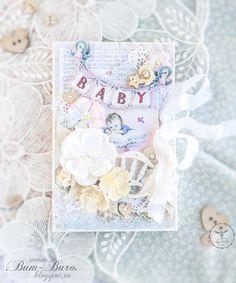 Baby card scrapbooking Бум-Бюро: Детская открыточка и поговорить:)