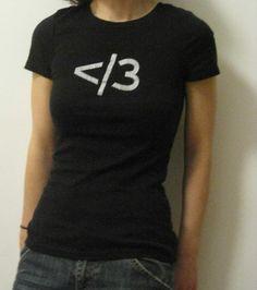 slash heart tshirt by KenspeckleGifts on Etsy, $20.00