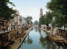 Bestand:Utrecht - Oude Gracht en Hamburgerbrug 1900.