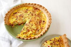 Make this Potato & Bacon Quiche with sliced new potatoes, crumbled bacon and more. This potato-bacon quiche is a hearty dish for the brunch crowd. Breakfast Items, Breakfast Dishes, Breakfast Recipes, Breakfast Club, Quiche Recipes, Brunch Recipes, Dinner Recipes, Quiches, Bacon And Cheese Quiche