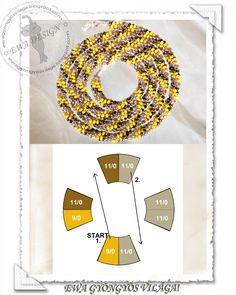 Ewa gyöngyös világa - several different patterns shown Bead Crochet Patterns, Beading Patterns, Jewelry Patterns, Diy Jewelry, Beaded Jewelry, Jewelry Making, Jewellery, Diy Accessoires, String Crafts