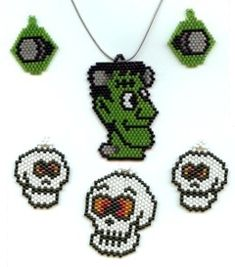 HALLOWEEN JEWELRY SET DUO BEAD PATTERN at Sova-Enterprises.com
