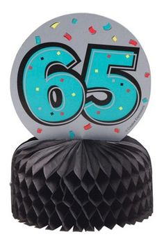 Mini 65th Table Centrepieces Honeycomb Party Decorations - 3 Pack