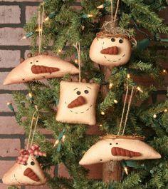 Ornaments - Snowmen Hanging Heads