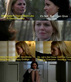 Love how Emma & Regina's relationship has grown. Emma truly feels &is ok being 1 of 2 Moms. She wants 1 person who loves her son as much 2 get HEA.