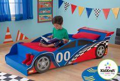 MiPetiteLife.es - Cama Coche de Carreras. Estilo automóvil de carreras, muy imaginativo y colorido.  Marca: KidKraft  www.MiPetiteLife.es