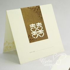 Wholesale Love Wedding Invitation Card with Chocolate Bow Set of