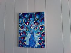 I painted this... inspired by @Alyssum Pohl's frequenct peacock board. This is my take!