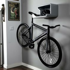 with a home bike hanger you not only keep bike scratch free you also turn your bike into a wall art in innovative ideas - Indoor Bike Rack