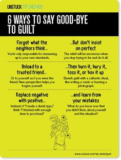 Life gets a whole lot better if we stop beating ourselves up for past transgressions. Here's how