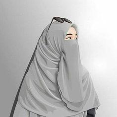 Niqab Fashion, Muslim Fashion, Hijabi Girl, Girl Hijab, Muslim Girls, Muslim Women, Hijab Drawing, Hijab Cartoon, Hijab Fashionista