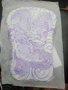 Dragon Tattoo Sketch, Black Dragon Tattoo, Tattoo Sketches, New Dragon, Dragon Art, Japan Tattoo Design, Sak Yant Tattoo, Full Back Tattoos, Asian Tattoos