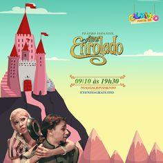 """Clubinho Portal Sul Shopping apresenta: """"Amor enrolado"""".   Dia 09/10, às 19h30, no estacionamento do Portal Sul Shopping.  Traga a criançada!   EVENTO GRATUITO."""