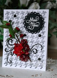 miss you card by Christina Griffiths