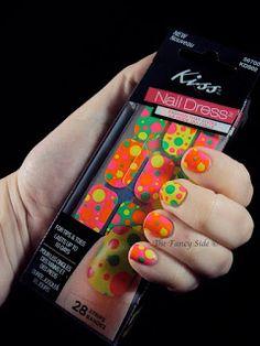 The Fancy Side: Neon Polka Dot Strips