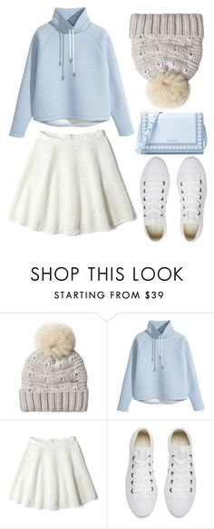 """""""Pastel dreams"""" by maryamemara ❤ liked on Polyvore featuring Woolrich, H&M, DKNY, Converse and MICHAEL Michael Kors"""