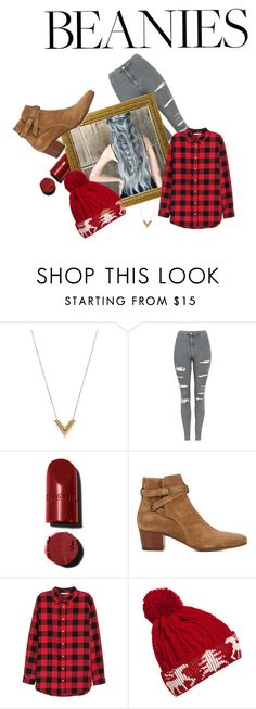 """winter forest beanie"" by barag617 ❤ liked on Polyvore featuring Louis Vuitton, Topshop, Yves Saint Laurent and WithChic"