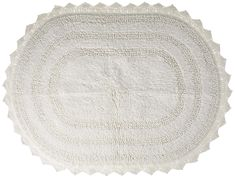DII Cotton Crochet Medium Oval Luxury Spa Soft Bath Rug, For Bathroom, Vanity, and Dorm Room - White Laundry Room Rugs, Bathroom Rugs, Bath Rugs, Bathroom Ideas, Farmhouse Bath Mats, Farmhouse Decor, Southern Farmhouse, Farmhouse Bathrooms, Farmhouse Ideas