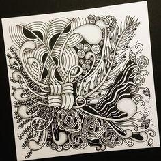 Zentangle 021016. #zendoodle #zentangle #doodle #doodleart #drawing #draw #painting #art #artwork #sketch #sketchbook #blackandwhite #zenart #zentangleinspiration #zentangleart #onezentangleaday #learnzentangle