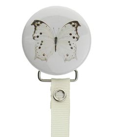 Look at this Crystal Dream Ivory Butterfly Pacifier Clip on #zulily today!