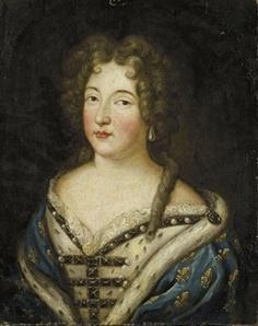 CHARLES BEAUBRUN   Portrait de Marie-Thérèse d'Autriche, reine de France  17th C.