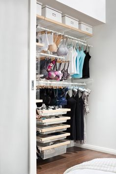 Create your own organised lingerie library with Howards Storage World