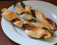 Prosciutto Wrapped Asparagus Breadsticks on @Babble #recipes #breads