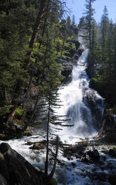 Pine Creek Falls, Gallatin National Forest near Livingstone, Montana