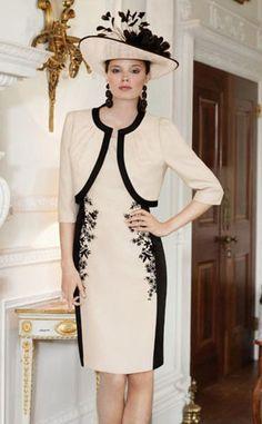 Vestido para mãe da noiva preto e branco