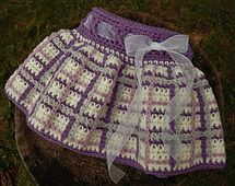 "Ravelry: ""Perfectly Plaid"" Girls Skirt pattern by Jennifer Pionk"