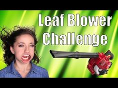 Leaf Blower Challenge | Brooklyn and Bailey - YouTube