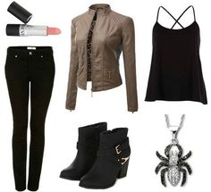Fashion Inspiration: Captain America: The Winter Soldier - College Fashion Marvel Inspired Outfits, Character Inspired Outfits, Date Outfits, Girl Outfits, Fashion Outfits, Fashion Fashion, Fashion Trends, School Looks, Black Widow Outfit