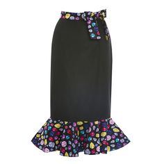 Rosie Black and Jewel Wiggle Skirt | 50's Style Fashion - Lindy Bop