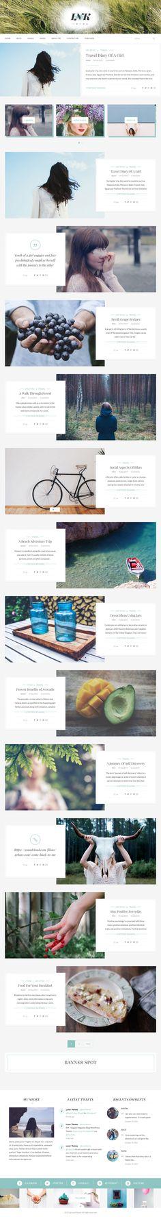 Blog Design Inspiration, Fashion Themes, Google Fonts, Website Themes, Social Media Icons, Website Template, Wordpress Theme, Web Design, Theme Ideas