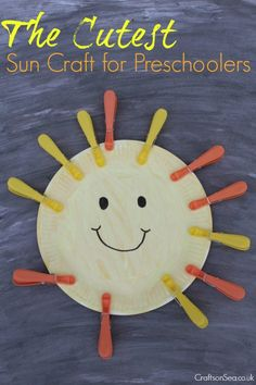 Introduce the concept of the Sun to your kid with fun ideas of sun crafts for kids. Check out our innovative craft collection here for more ideas. Sun Crafts, Summer Crafts, Toddler Crafts, Crafts For Kids, Arts And Crafts, Fun Activities For Toddlers, Summer Activities, Unicorn Ornaments, Cute Sun