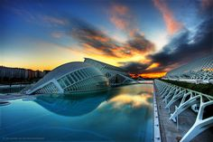 Valencia, Spain  City of Arts and Sciences at dawn http://www.flickr.com/photos/salvita_42/