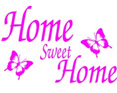 Home sweet home wall art sticker available in over 20 colours
