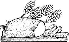 Image result for bread clipart black and white