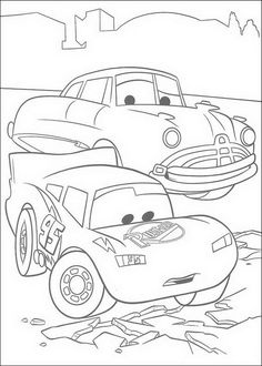 lightning mcqueen and doc hudson coloring page cars pixar cars pixar - Cars 2 Coloring Pages To Print