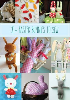 21+ Easter Bunnies to Sew - these are all so cute!