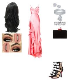 """Untitled #651"" by insafsat on Polyvore featuring Gucci, Christian Louboutin, Edie Parker and Effy Jewelry"