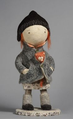 Dressed for Autumn More beautiful felted wool creations by Russian doll maker Irina Andreeva